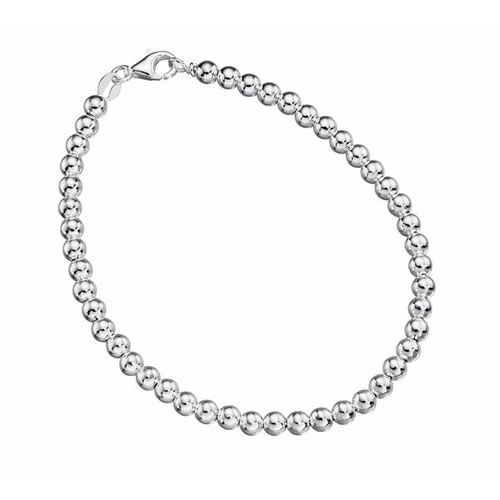 Rotating Sterling Silver Ladies Ball Bracelet