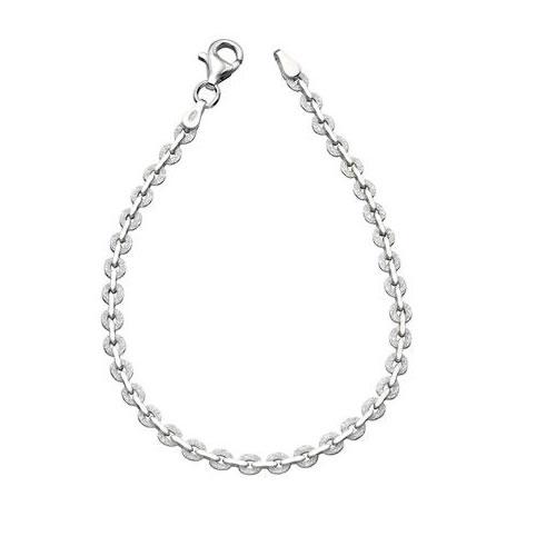 Textured Link Sterling Silver Bracelet