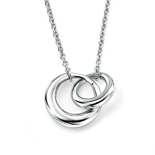 Interlocking Sterling Silver Necklace
