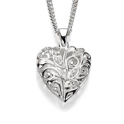 Filigree Heart Sterling Silver Necklace