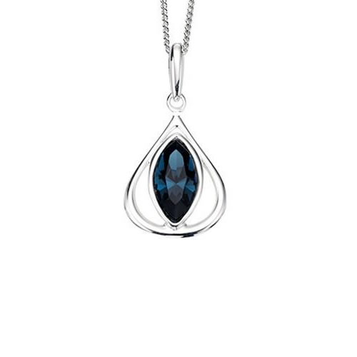 Montana Blue Swarovski Crystal And Sterling Silver Necklace