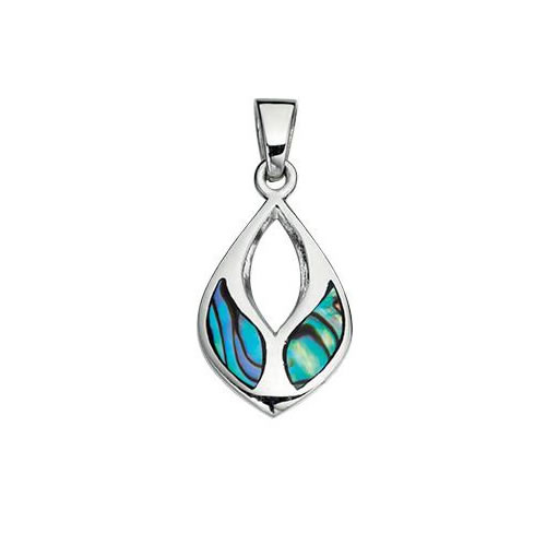 New Zealand Paua Shell Cutout Design Necklace