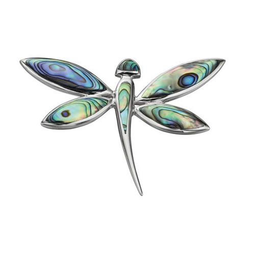 New Zealand Paua Shell Dragonfly Necklace