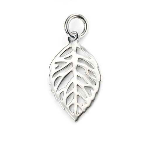 Skeleton Leaf Design Sterling Silver Necklace