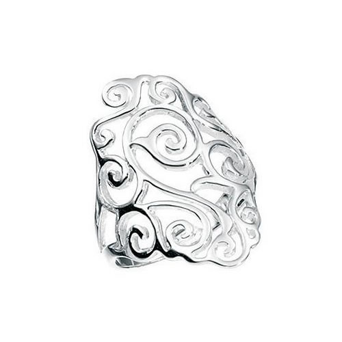 Filigree Design Sterling Silver Ladies Ring