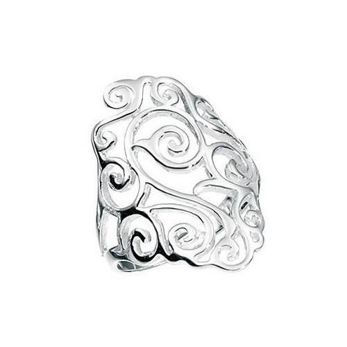 Filigree Design Sterling Silver Ladies Ring