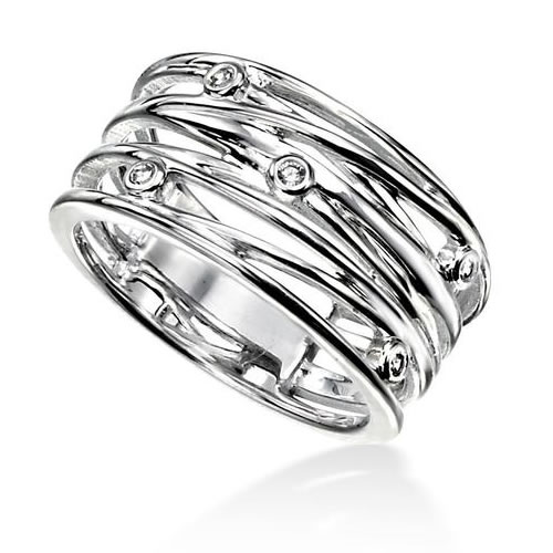 Wrapped Wire Sterling Silver Ladies Ring