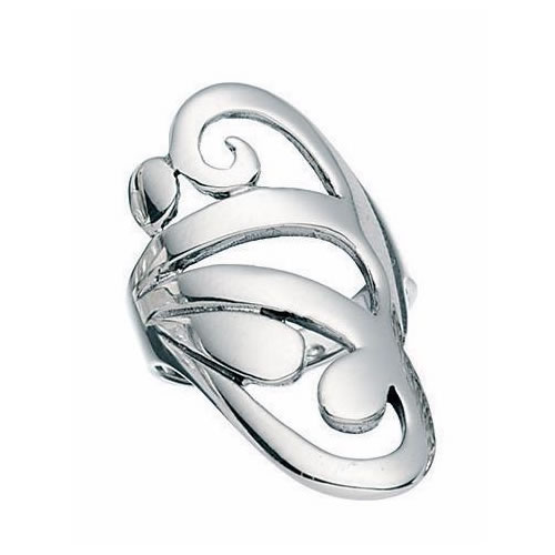 Swirl Design Sterling Silver Ring