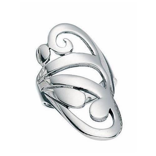 Swirl Design Sterling Silver Ring