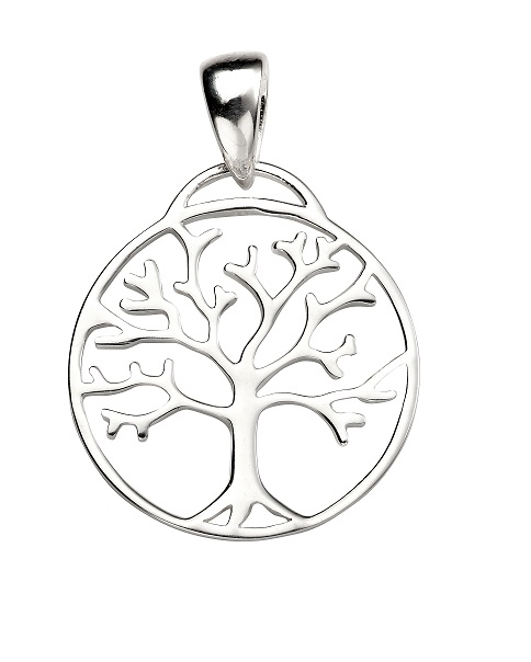 Tree Necklace In Sterling Silver