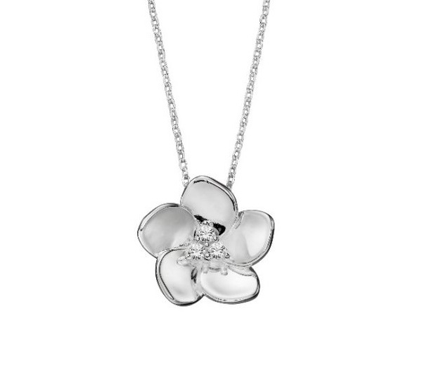 Abstract Heart Necklace In Sterling Silver